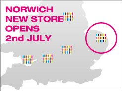 We are opening in Norwich - 2nd of July - 07/06/2012