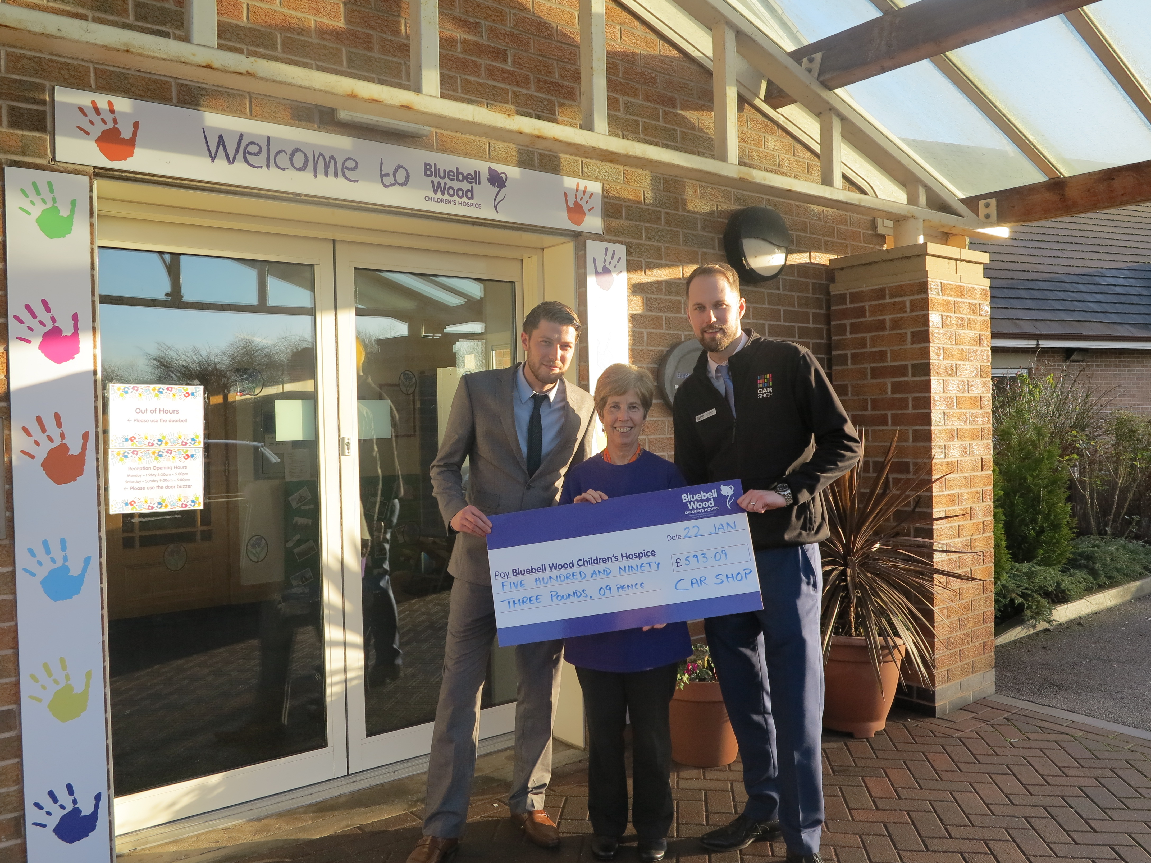 CarShop Doncaster Raise Funds for Local Childrens Hospice, Bluebell Wood