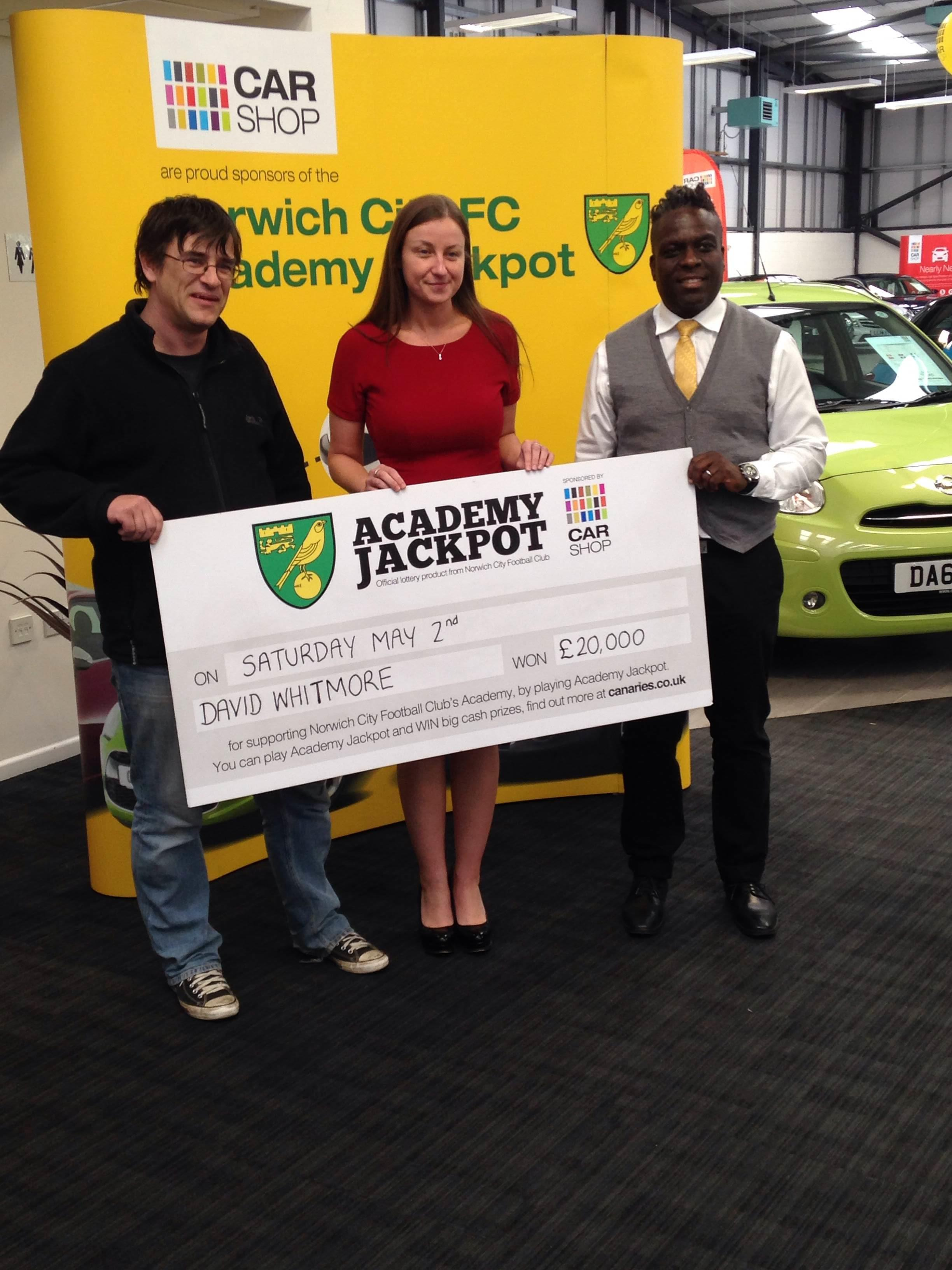 Scoring the £20,000 Academy Jackpot at CarShop Norwich