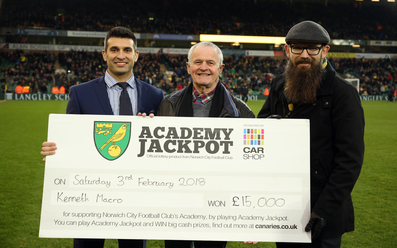 Sponsor: Norwich City Football Club's Youth Academy Jackpot, pays out big to one lucky winner!